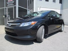 Honda Civic LX-Garantie global jusqu'Au 29/sept/2018 ou 200km 2012