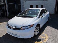 Honda Civic LX-Garantie jusqu'A 200.000km 2012