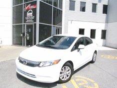 Honda Civic LX-Garantie jusqu'a 200.000km- 2012