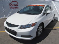 Honda Civic LX COUPÉ + GARANTIE 10 ANS/200.000KM 2012