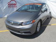 Honda Civic EX berline + garantie 10ans/200.000km 2012