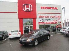 2012 Honda Civic LX +BAS KILOMETRAGE CERTIFIÉS