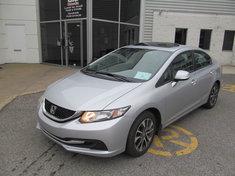 Honda Civic EX+Toit ouvrant+Garantie jusqu,a 200.000km 2013