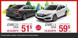 Louez la nouvelle Honda Civic 2016 aujourd'hui!