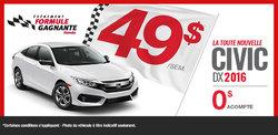 Louez la nouvelle Honda Civic DX 2016 aujourd'hui!