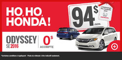 Le Honda Odyssey SE 2016 en location à partir de 94$ par semaine