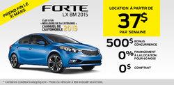 La nouvelle Kia Forte 2015 à 159$ par mois