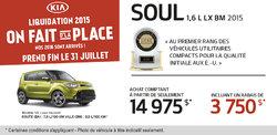 La Kia Soul 2015 à partir de 14 975$