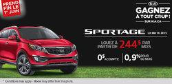 Louez le tout nouveau Kia Sportage LX BM TA 2015 à compter de 244$ par mois