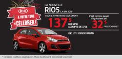 Louez la nouvelle Kia Rio5 2016 à 137$ par mois