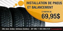Installation de pneus et balancement