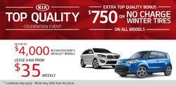 Kia's Top Quality Celebration Event!
