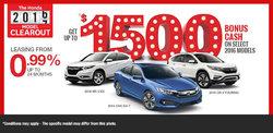 Honda Sales Event!